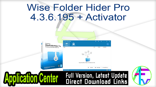 Wise Folder Hider Pro 4.3.6.195 + Activator