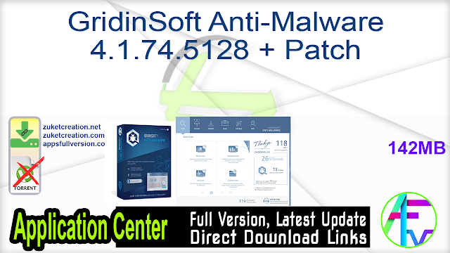 GridinSoft Anti-Malware 4.1.74.5128 + Patch