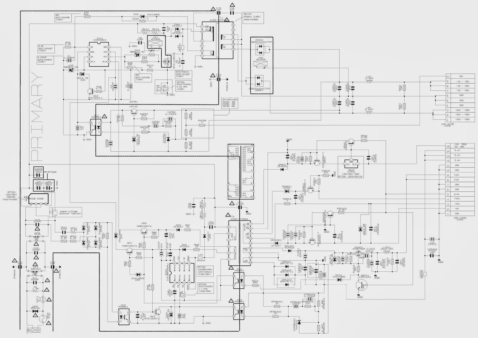 Electro help: SAMSUNG HT-C460_HT-C5500 SMPS SCHEMATIC
