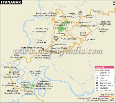 Itanagar City Map