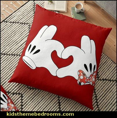 mickey  mouse love hand Floor Pillow mickey mouse bedroom decor