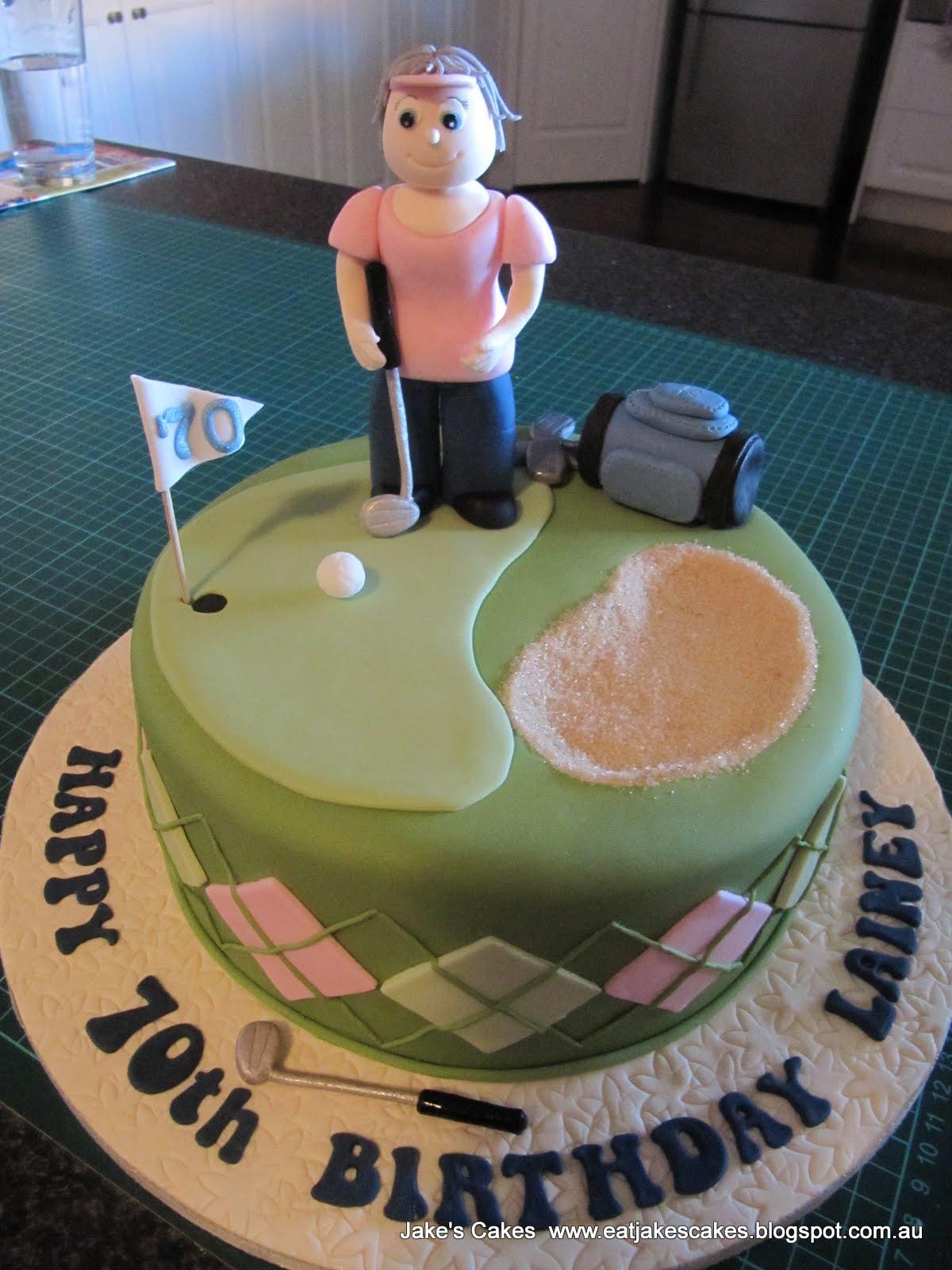 Jake S Cakes Golf Cake 70th Birthday