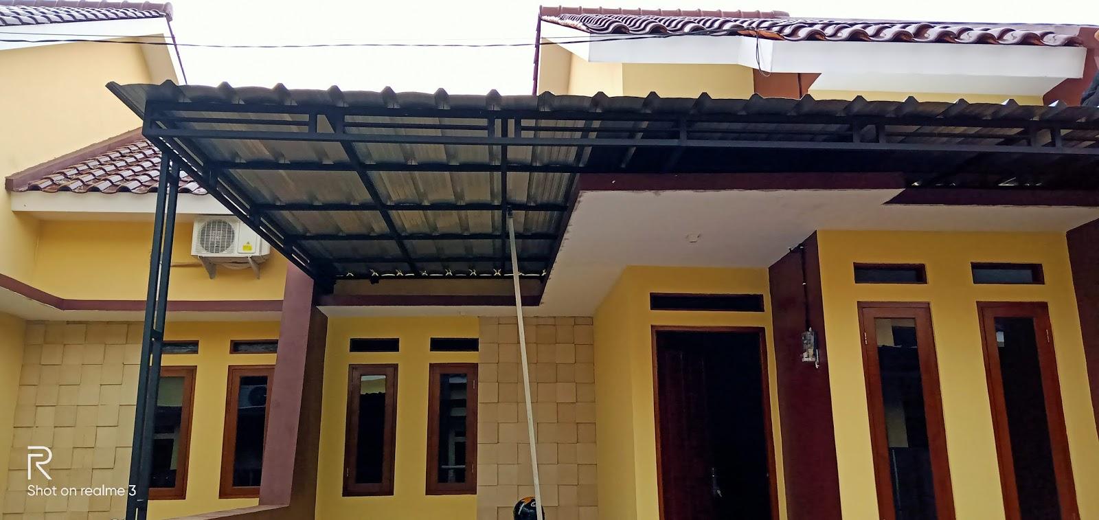 harga ganti atap baja ringan tukang kanopi murah kota depok dan