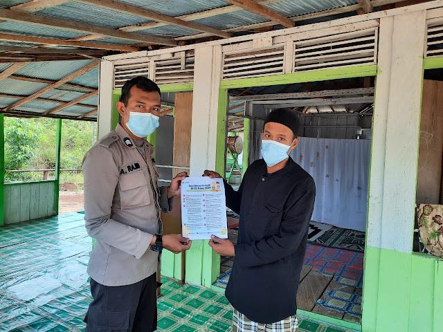 Jelang Ibadah Puasa di Tengah Pandemi Covid-19, Bhabinkamtibmas Polsek Lamandau Sosialisasikan Surat Edaran Menteri Agama