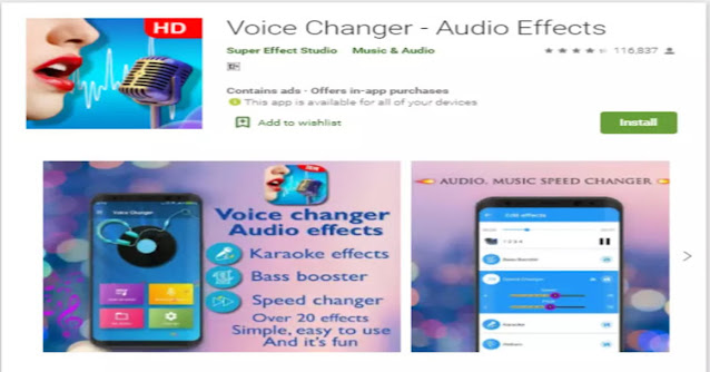 voice changer with audio effects