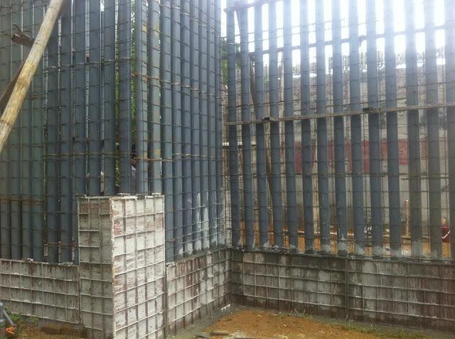 Tường chịu lực, Coffa trong, Cốt thép  3d