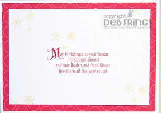 Christmas Greetings inside - photo by Deborah Frings - Deborah's Gems