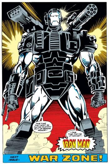 War Machine (Máquina de Guerra) superhéroe de Marvel Comics