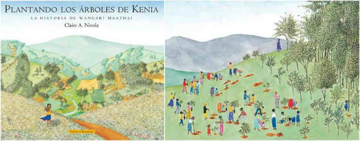 cuentos libro infantiles respetar cuidar medio ambiente  plantando arboles en kenia