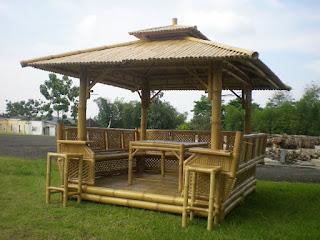 contoh gazebo dari bambu minimalis modern