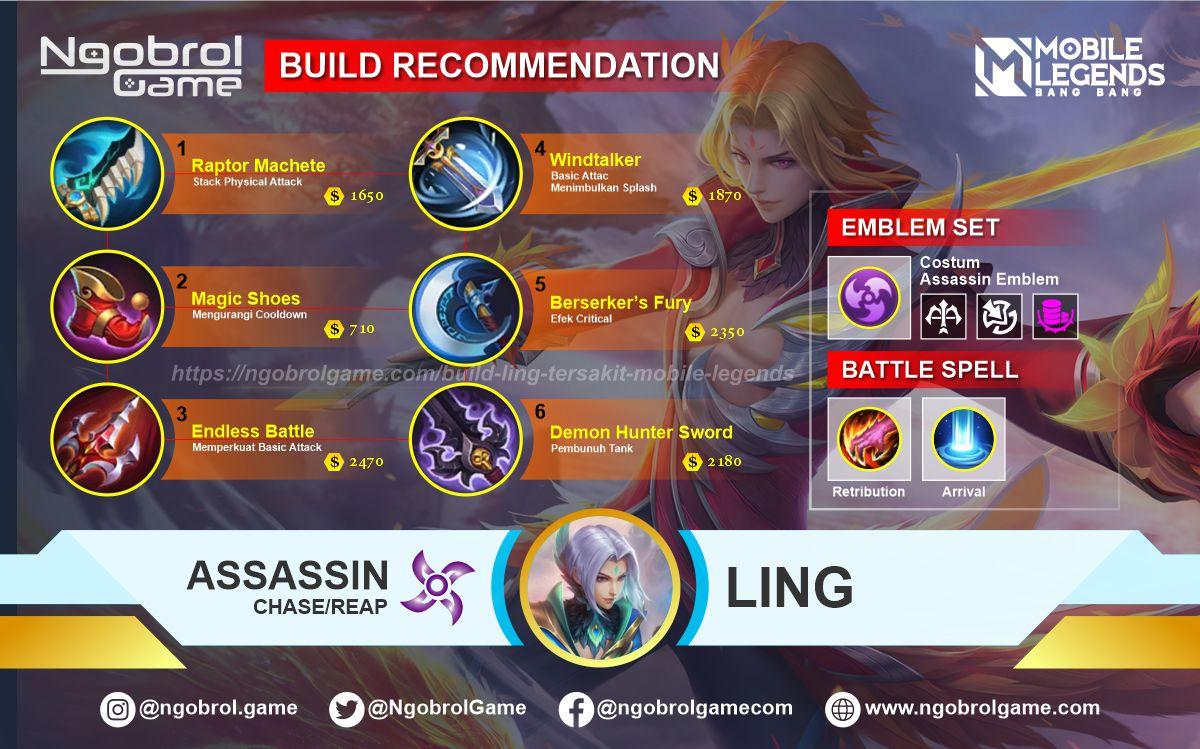 Build Ling Tersakit 2021 Mobile Legends