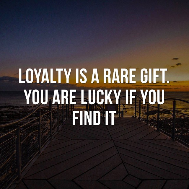 Loyalty is a rare gift, you are lucky if you find it. - Quotes Images