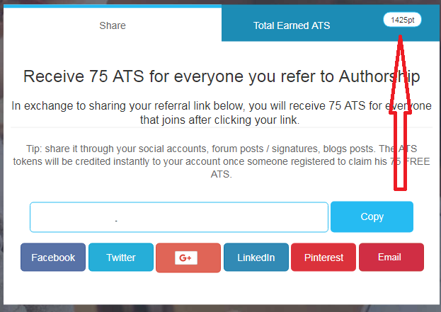 ATS Tokens Gratis dari Authorship