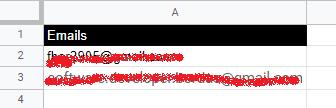 Lista de destinatarios para enviar correos con Google Apps Script