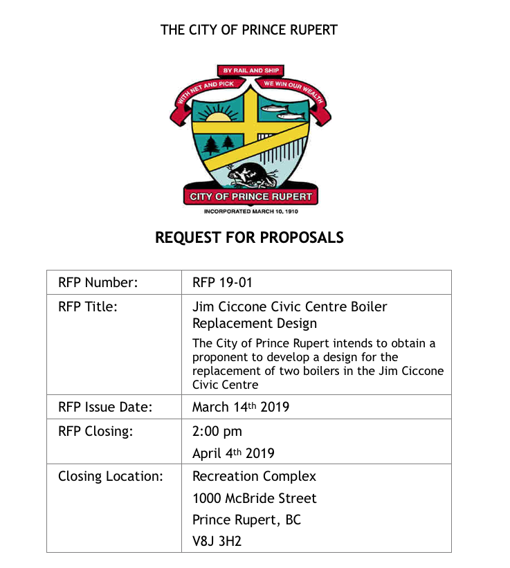 North Coast Review Recreation Centre Boiler Replacement Project Reaches Request For Bids Stage