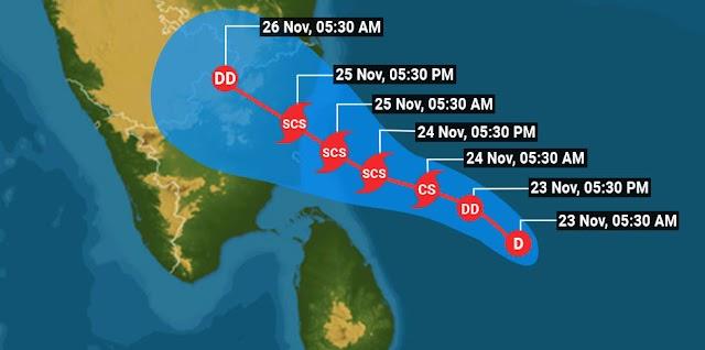 🔴 Cyclone Nivar Live View: Very severe storm in Tamil Nadu