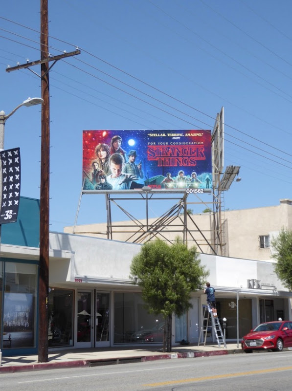 Stranger Things 2017 Emmy fyc billboard