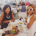 Bonang Matheba met Idols SA finalist Mmatema Moremi for lunch