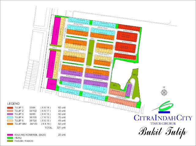 Siteplan Bukit TULIP Citra Indah City