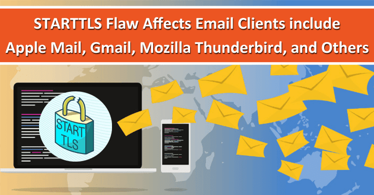 STARTTLS Flaws in Email Clients Let Hackers Steak The Credentials From Apple Mail, Gmail, Mozilla Thunderbird