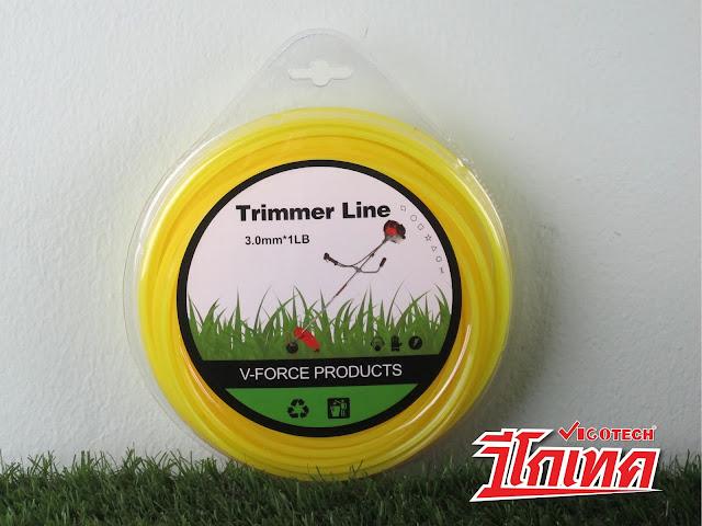 เอ็นตัดหญ้า แบบเหลี่ยม 3.0 มิล 64 เมตร (สีเหลือง)