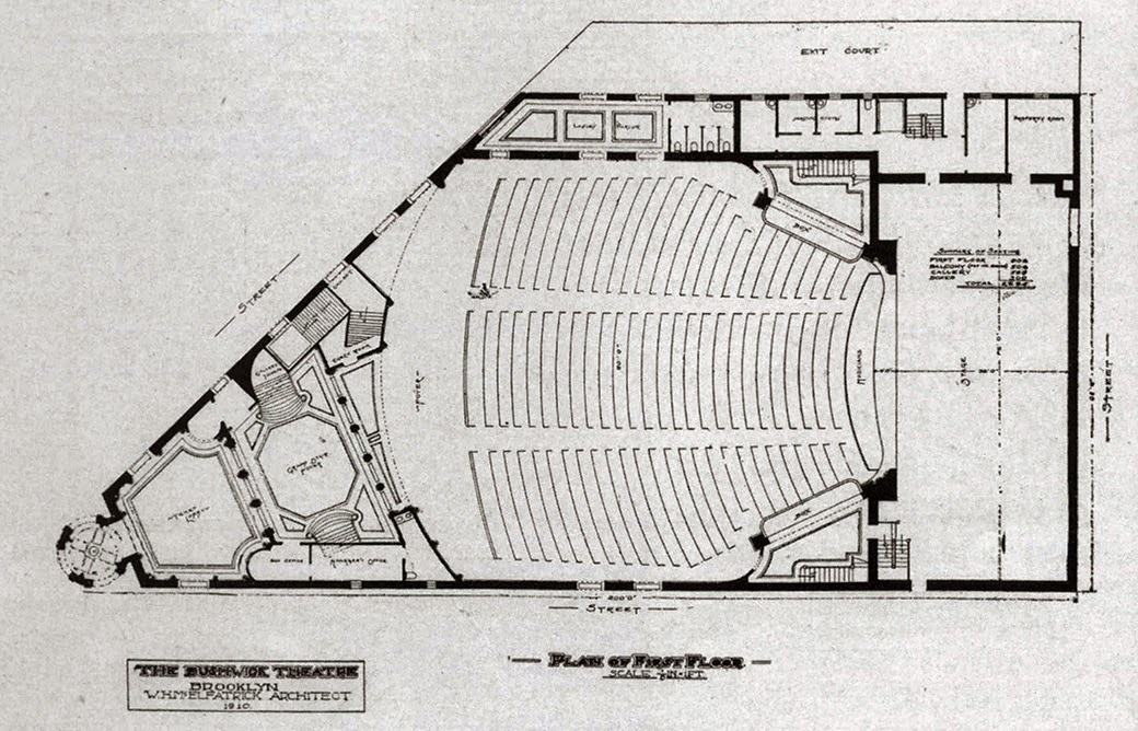 Architectural Plan of Bushwick Theatre
