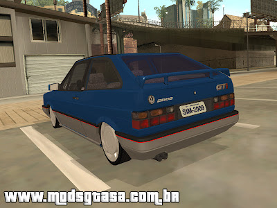 Vw Gol GTi Turbo Edited para GTA San Andreas