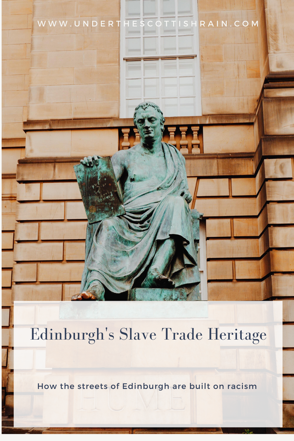 Edinburgh's Slave Trade Heritage Pinterest pin