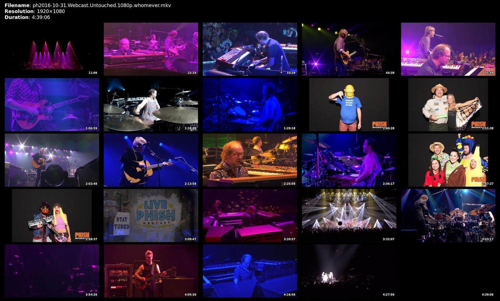 The Curtain With Phish 20161031 MGM Grand Garden Arena Las