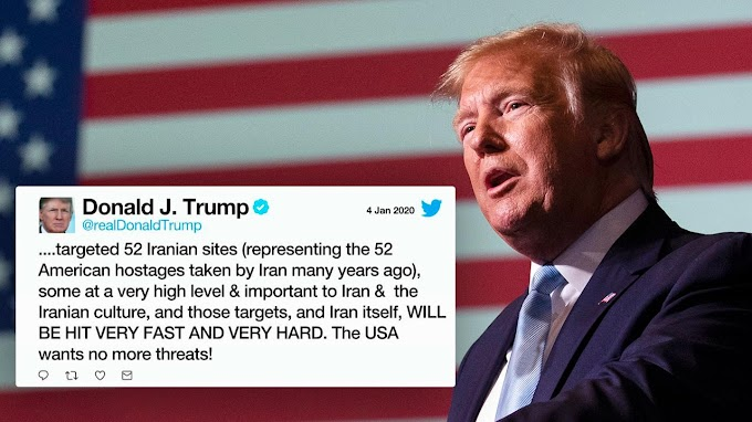 Trump threatens to attack 52 Iranian states from his recent tweet