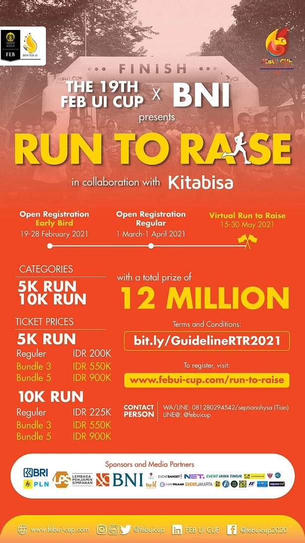 FEB UI CUP - Virtual Run to Raise • 2021