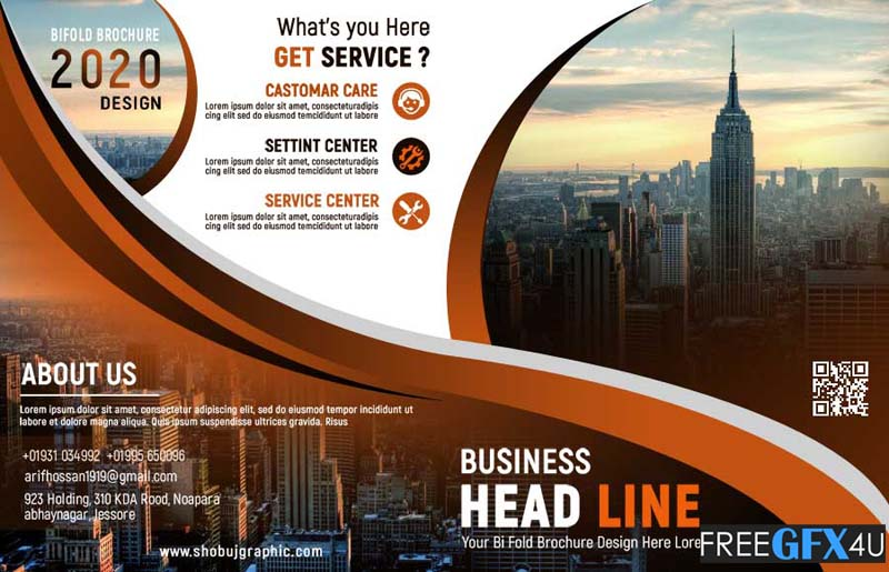 Bi-Fold PSD Brochure Template for all Kinds of Business