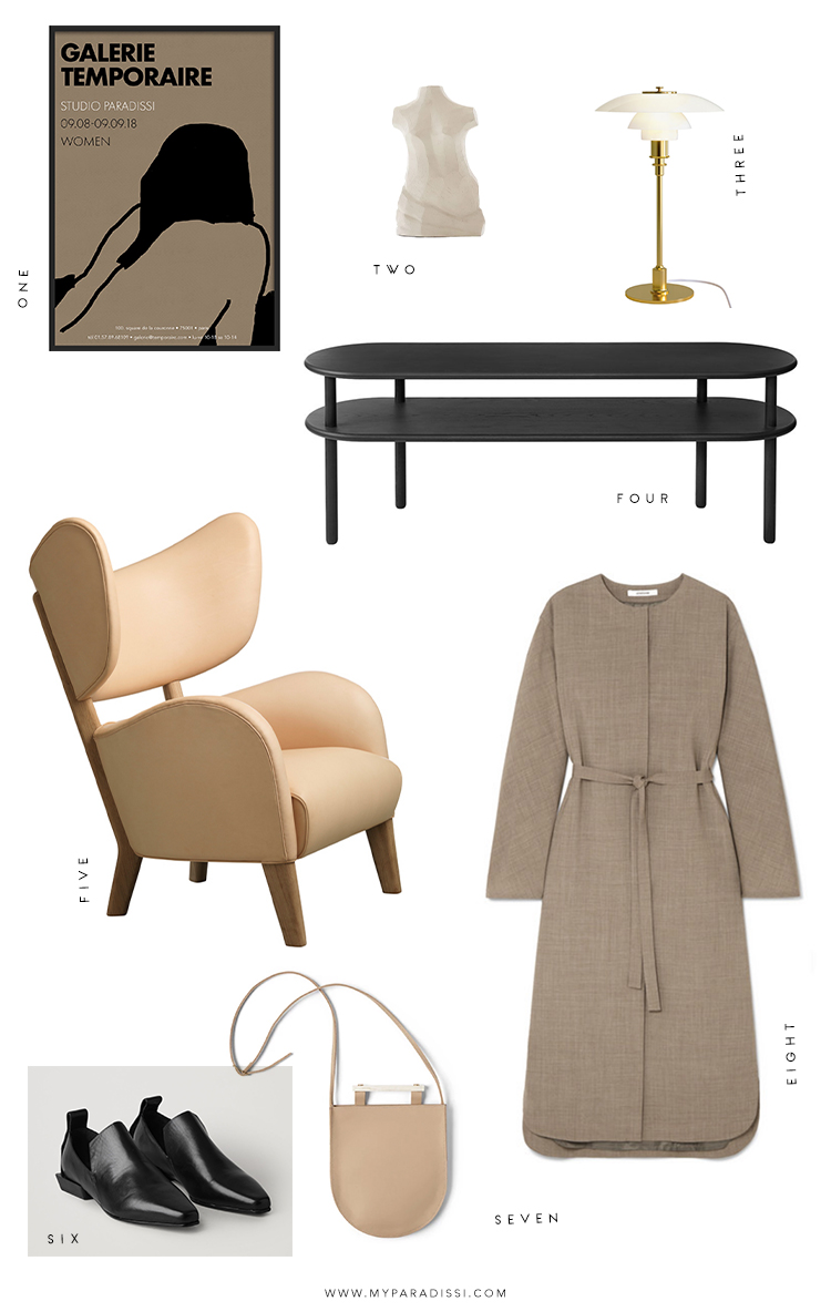 Favorite products moodboard curated by Eleni Psyllaki for My Paradissi
