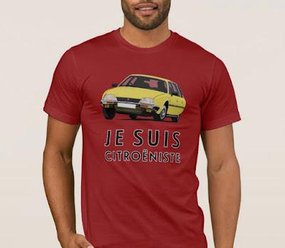 Je suis citroeniste - Citroen CX GTi t-paita