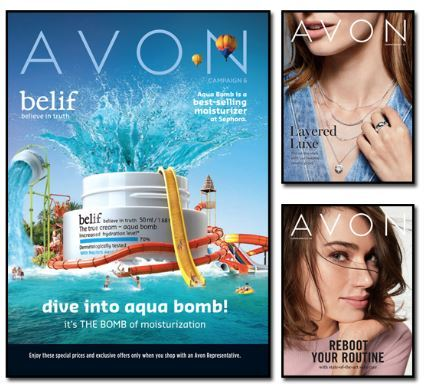 Click here to shop for the current Avon brochure online.