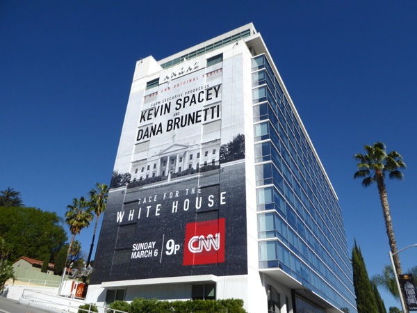 Giant Race for the White House series premiere billboard