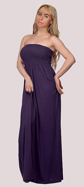 Best Plus Size Strapless Maxi Dresses