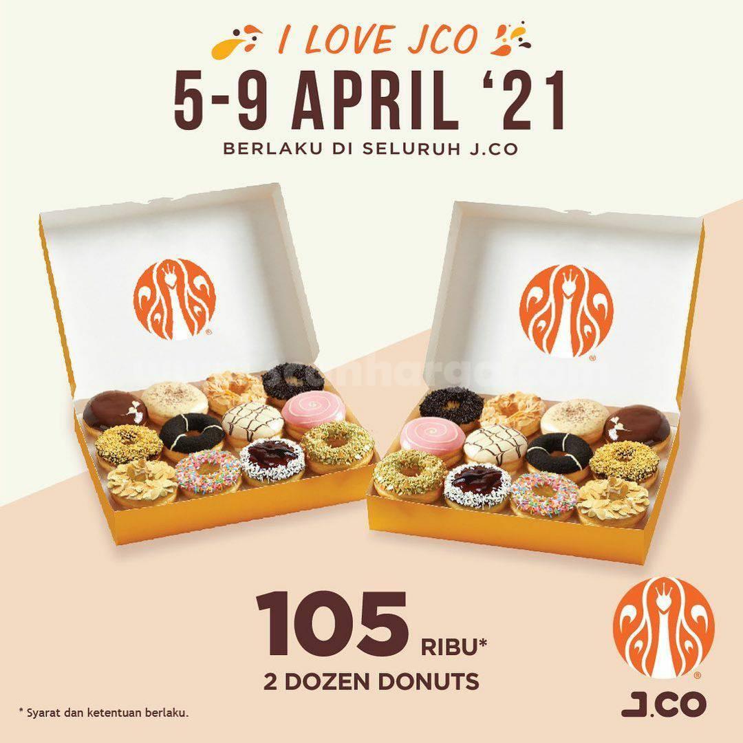 Promo JCO Terbaru - I Love JCo - Paket 2 Lusin Donuts hanya Rp 105.000