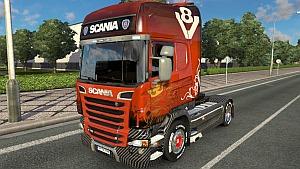 Scania R Carbon V8 skin mod