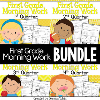 First Grade Morning Work- engaging worksheets to get your day started