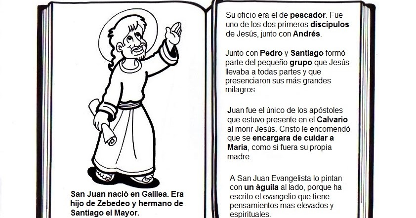 Dibujos Para Colorear San Juan: La Catequesis (El Blog De Sandra): Conocemos Y Coloreamos
