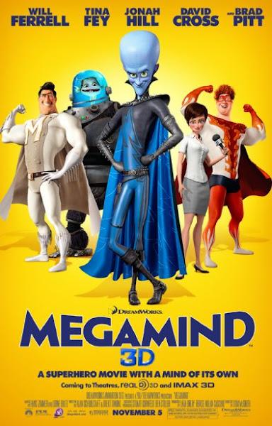 Poster Of Megamind 2010 720p Hindi BRRip Dual Audio Full Movie Download