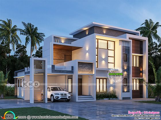 Excellent house rendering in contemporary look
