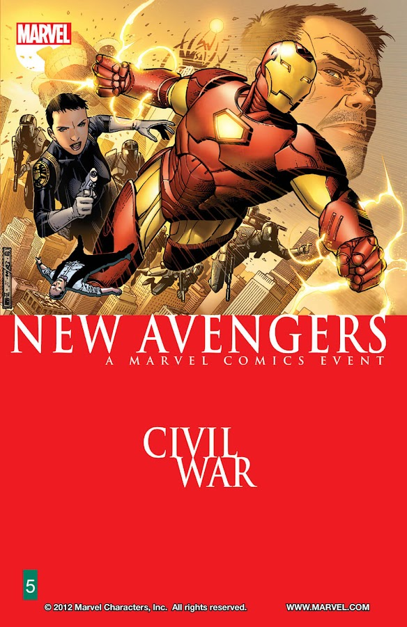 new avengers civil war marvel comics brian michael bendis iron man jim cheung