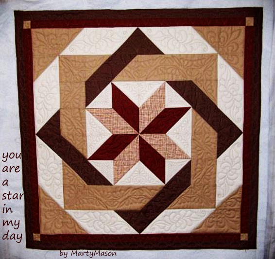 Marty S Fiber Musings It S Quilted And It S A Simple Half