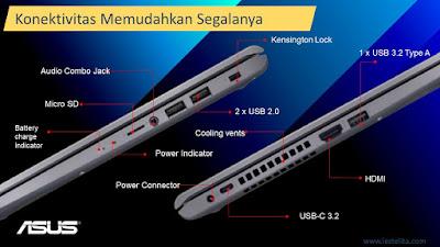 Konektivitas ASUS VivoBook 15 A516