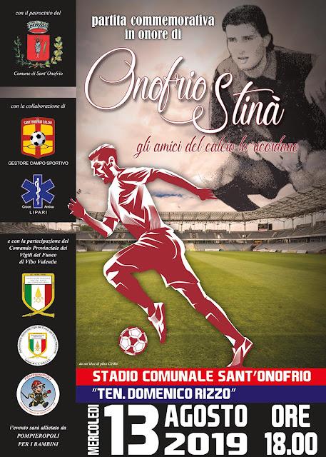 Partita Commemorativa in onore di Onofrio Stinà