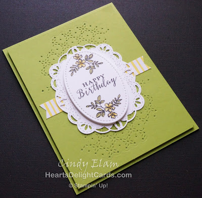 Heart's Delight Cards, Make A Difference, Stitched Labels Framelits, Birthday Card, Stampin' Up!,