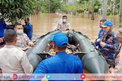 Sigap, Ditpolair Korpolairud Baharkam Polri Turun Langsung Evakuasi Korban Banjir Jakarta
