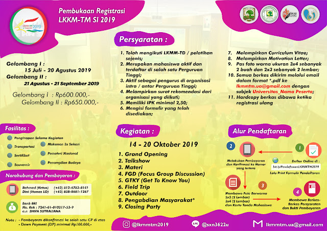 Latihan Kepemimpinan Manajemen Mahasiswa Tingkat Menengah Se-Indonesia
